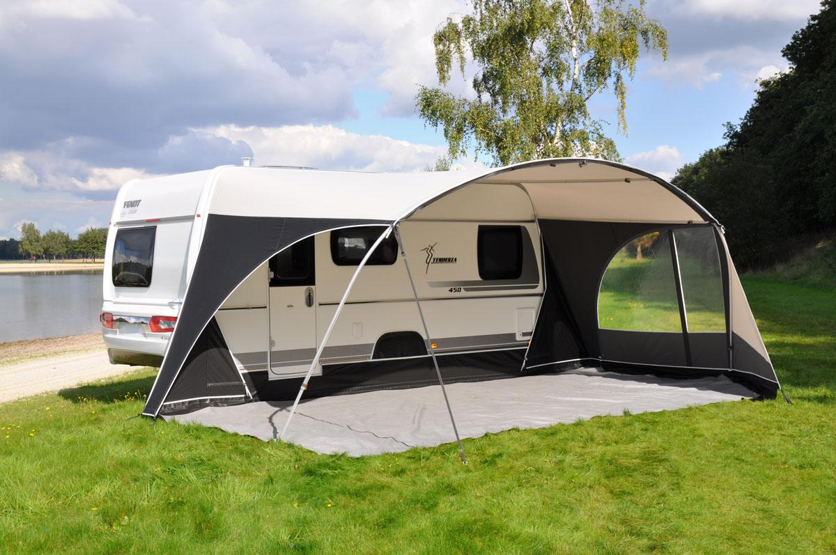Unico verona xl de maar liefst 280 cm diepe boogluifel for Luifel caravan aanbieding