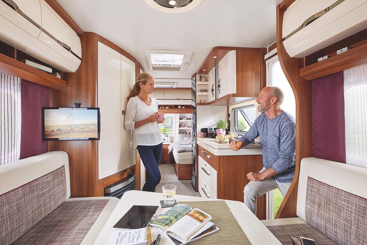 Hobby Excellent 2018 de elegante caravan met een modern design