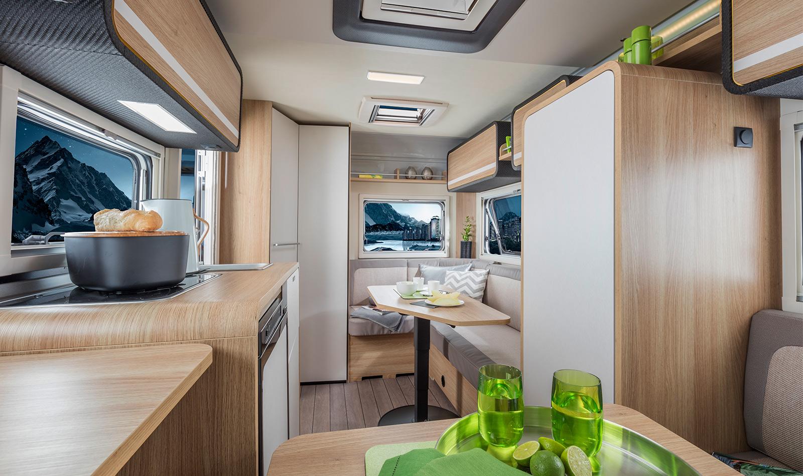 knaus travelino 2019 revolutionaire caravan licht in gewicht. Black Bedroom Furniture Sets. Home Design Ideas
