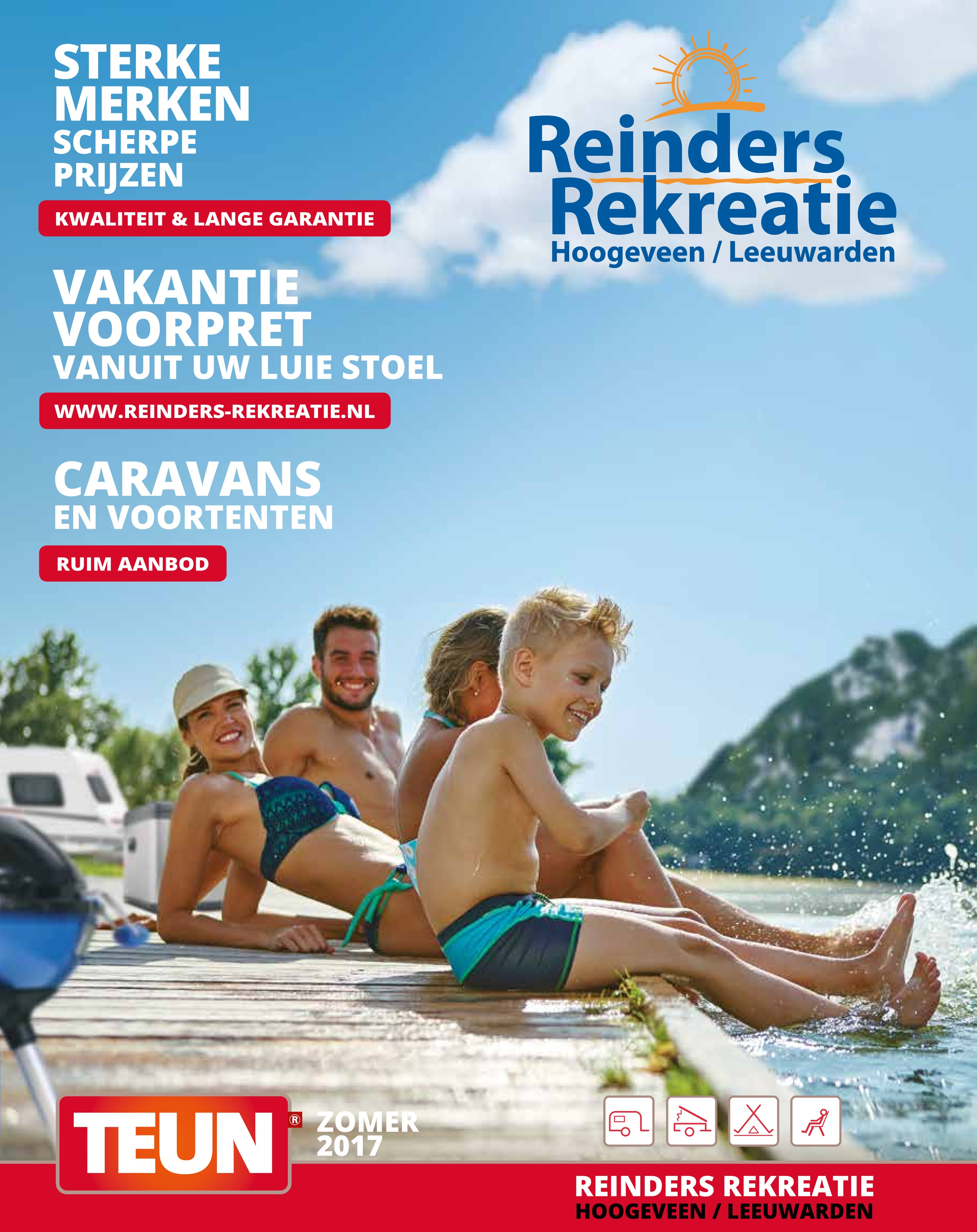 TEUN zomerfolder 2017 Reinders Rekreatie