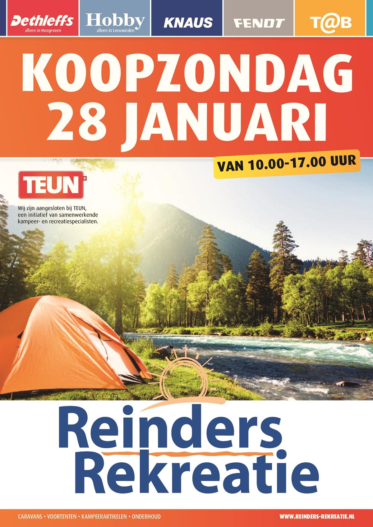 verkoopt stopcontact online anders koopzondag 28 januari - Reinders Rekreatie